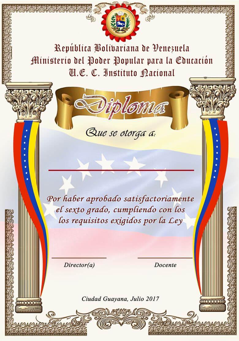 Muy Bueno | Certificate Of Achievement, Certificate For School Leaving Certificate Template