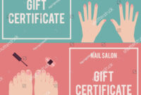 Nail Salon Gift Certificate Gift Certificate Stock Vector Pertaining To Nail Gift Certificate Template Free