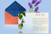 Natural Thank You Card Template with Sympathy Thank You Card Template
