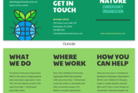 Nature Tri Fold Brochure Template – Venngage for Volunteer Brochure Template