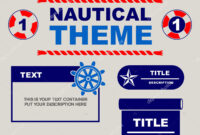 Nautical Theme Design Template You Can Use Flyers Banner Within Nautical Banner Template