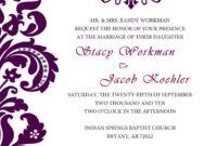 Neat And Simple | Free Wedding Invitation Templates, Free inside Church Wedding Invitation Card Template