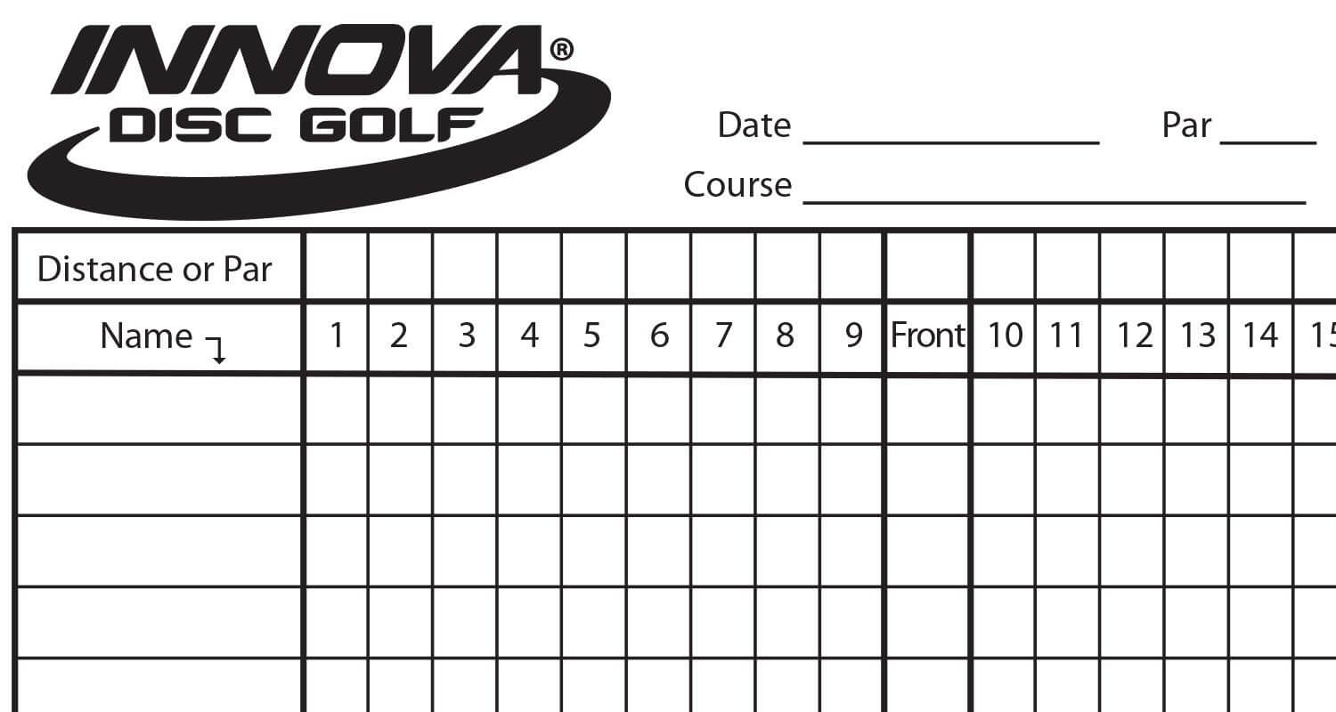 Need Some Extra Scorecards? We Send Out Scorecards With Most For Golf Score Cards Template