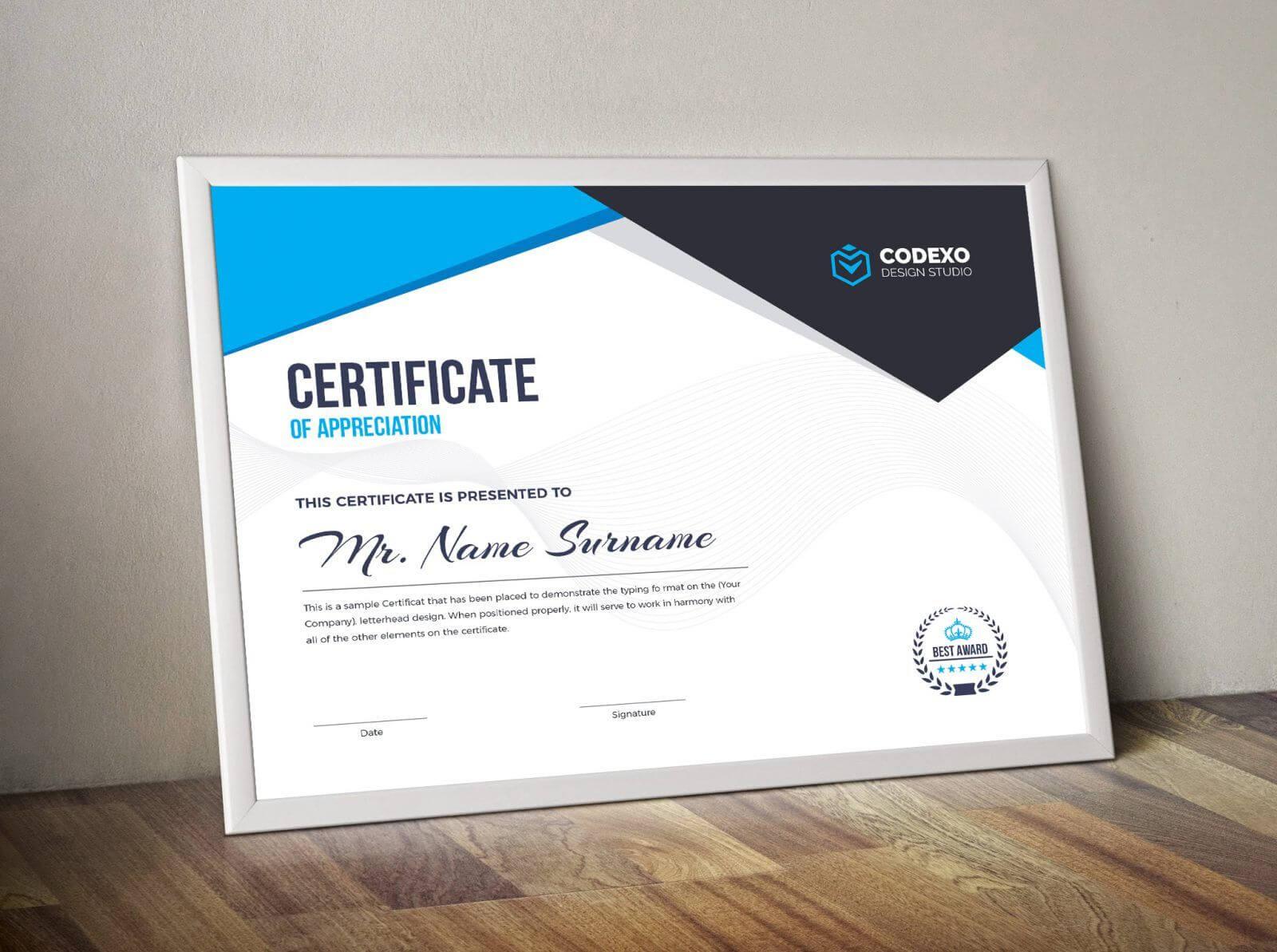 Nemesis Professional Landscape Certificate Template 000847 Intended For Landscape Certificate Templates