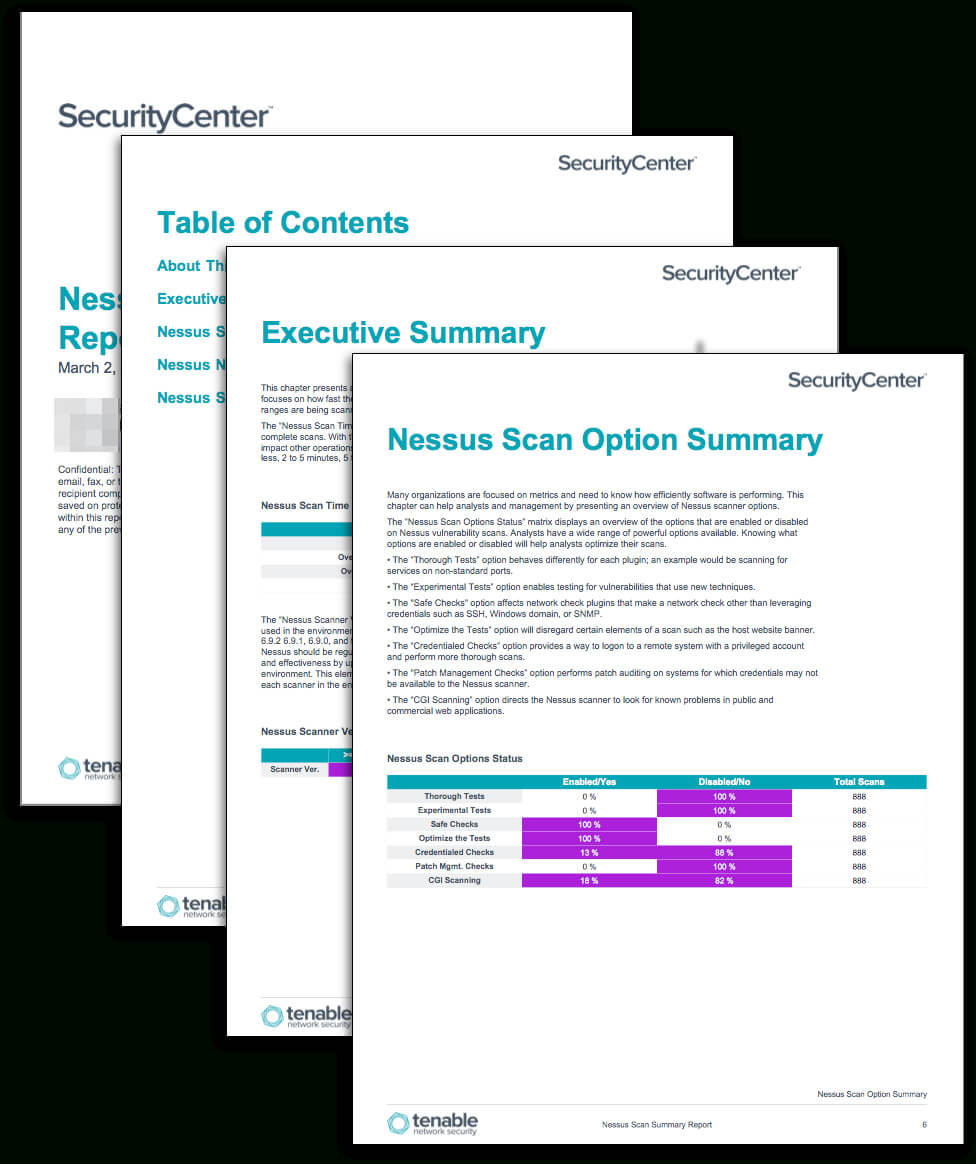 Nessus Scan Summary Report – Sc Report Template | Tenable® Throughout Nessus Report Templates