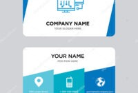 Network Business Card Design Template — Stock Vector inside Networking Card Template