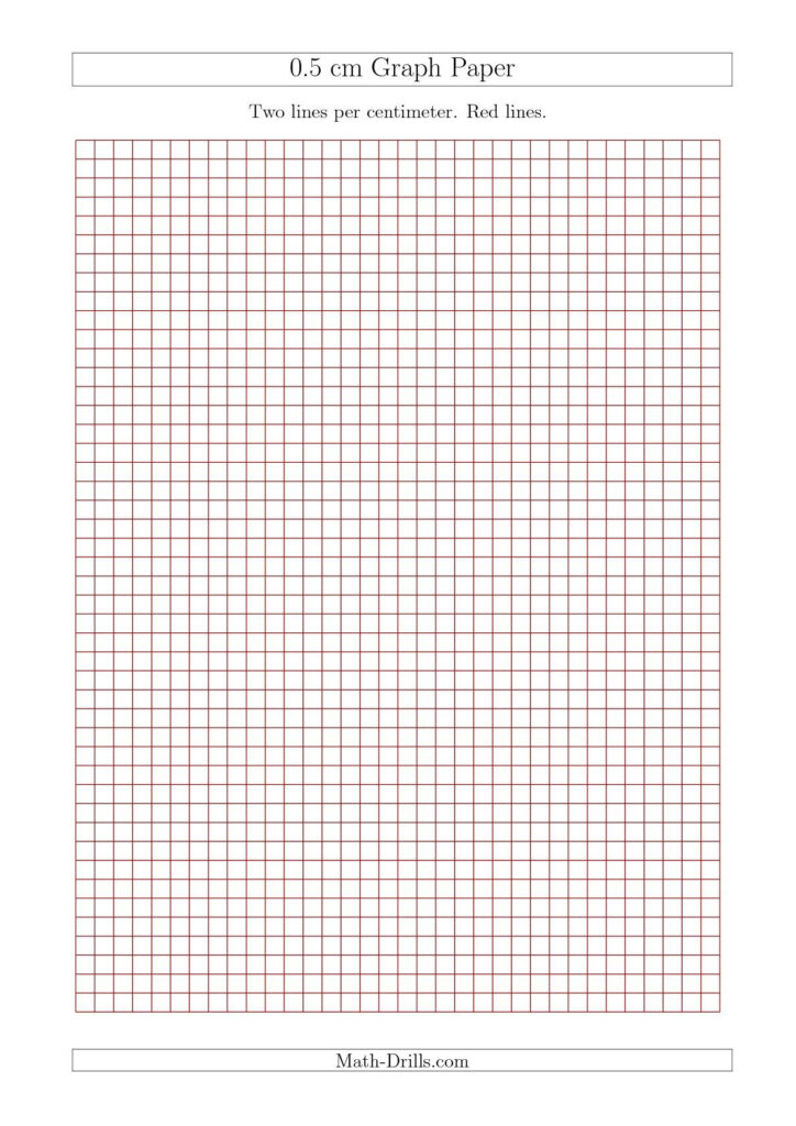 New 2015-09-17! 0.5 Cm Graph Paper With Red Lines (A4 Size within 1 Cm Graph Paper Template Word