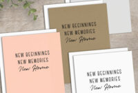 New Home Card Printable Calligraphy Housewarming Card New in Moving Home Cards Template