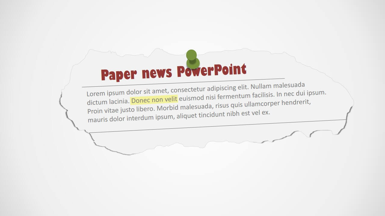 Newspaper Clipping Powerpoint Shapes For Newspaper Template For Powerpoint
