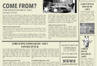 Newspaper Layout Newspaper Format Newspaper Generator Free intended for Old Newspaper Template Word Free