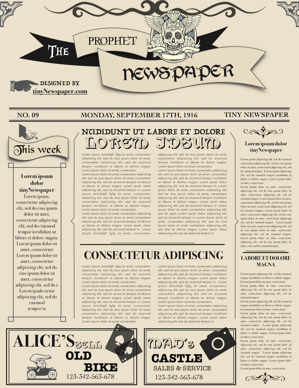 Newspaper Layout Newspaper Format Newspaper Generator Free Pertaining To Blank Old Newspaper Template
