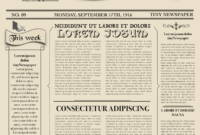 Newspaper Layout Newspaper Format Newspaper Generator Free with regard to Old Blank Newspaper Template