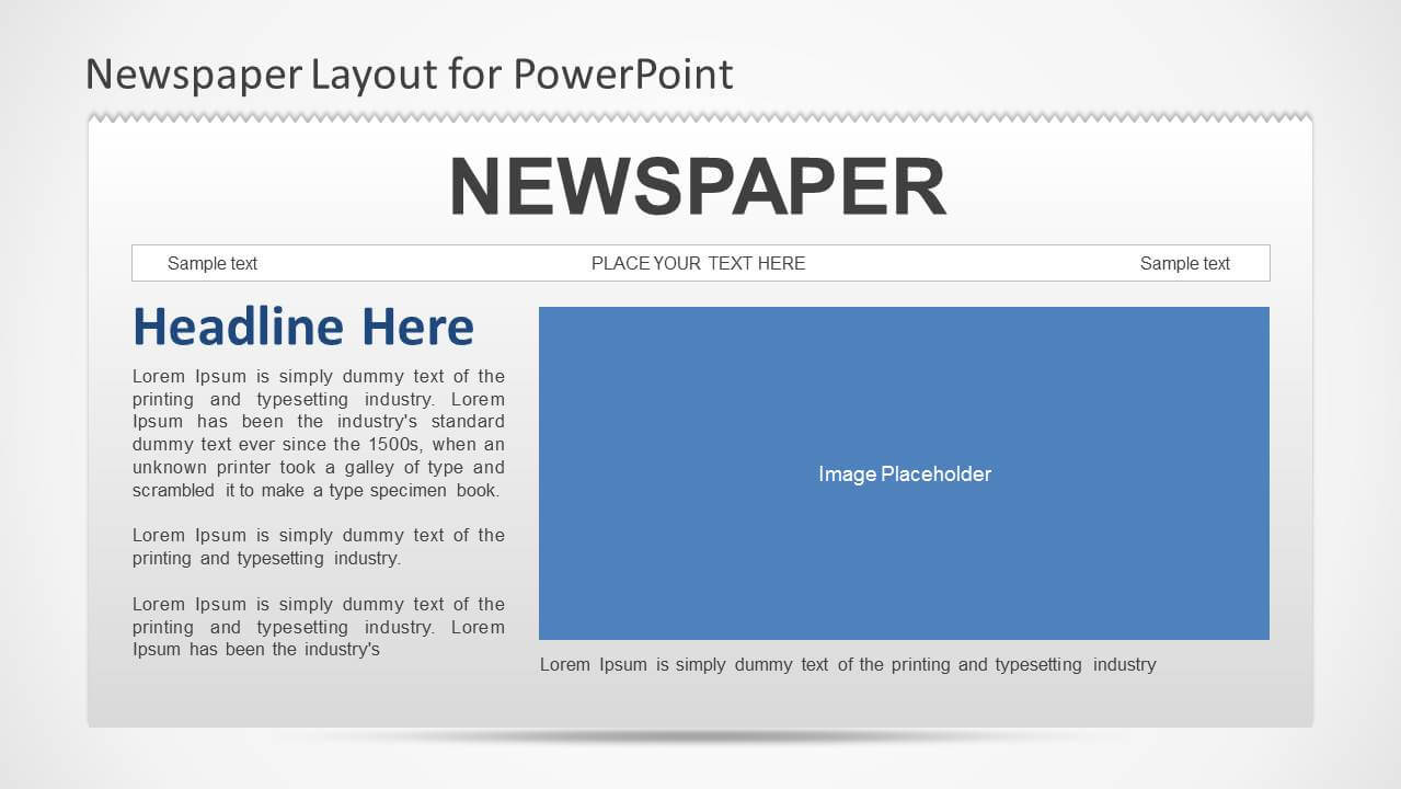 Newspaper Powerpoint Template Intended For Newspaper Template For Powerpoint
