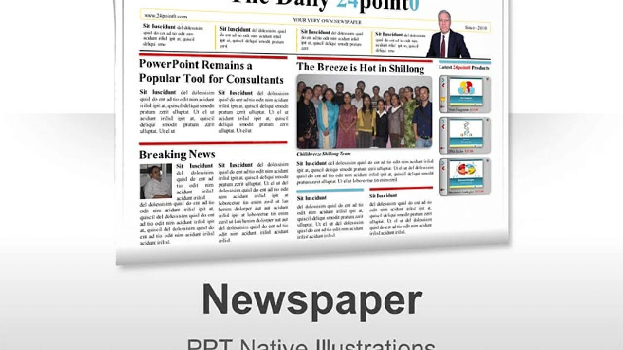 Newspaper Powerpoint Template Within Newspaper Template For Powerpoint