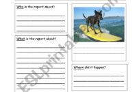 Newspaper Report Template – Esl Worksheetzoo123Zoo pertaining to News Report Template