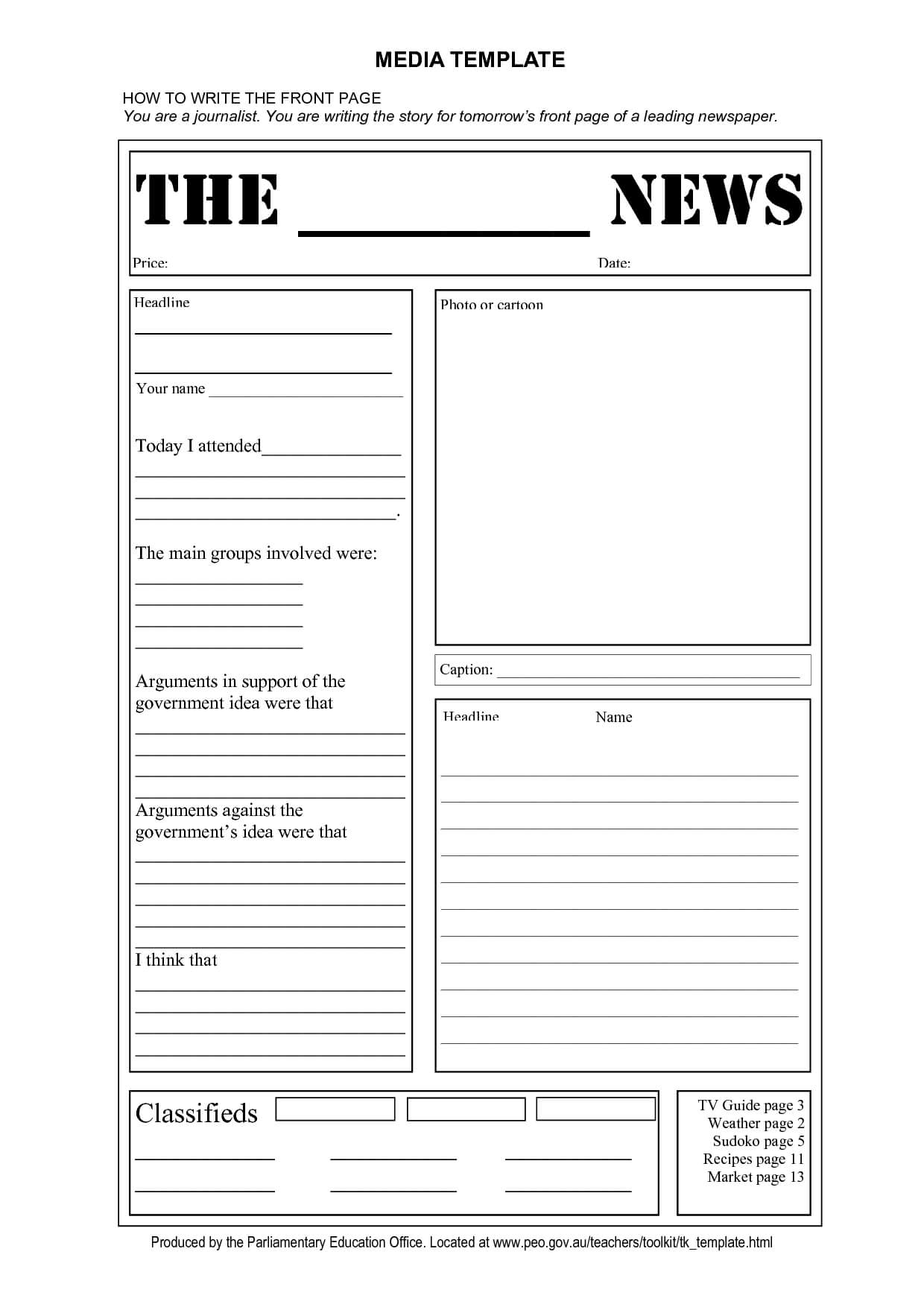 Newspaper Report Template Word – Zimer.bwong.co Throughout Report Writing Template Ks1