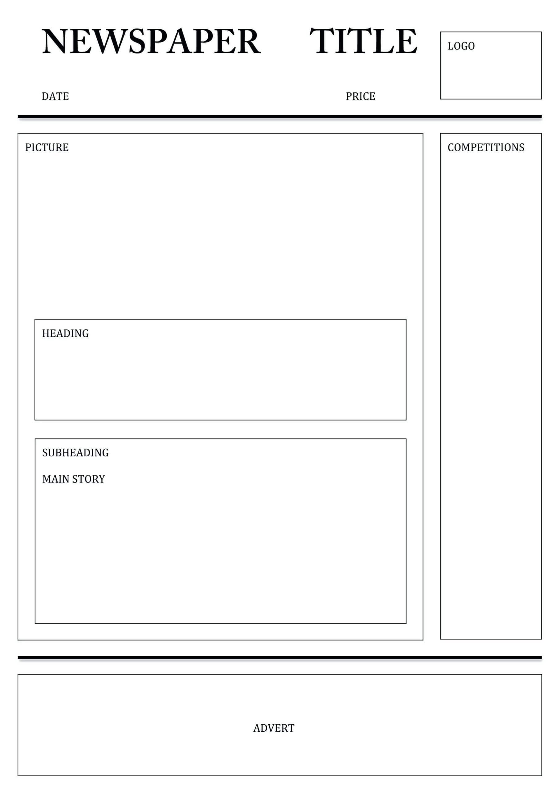 Newspaper Template For Word Pdf Excel | Templates Printable Inside Blank Newspaper Template For Word