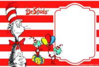 Nice Free Printable Dr.seuss Birthday Invitation Template with Dr Seuss Birthday Card Template