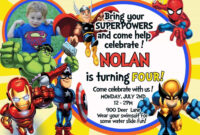 Nice Tips For Choosing Avengers Birthday Invitations Free within Avengers Birthday Card Template