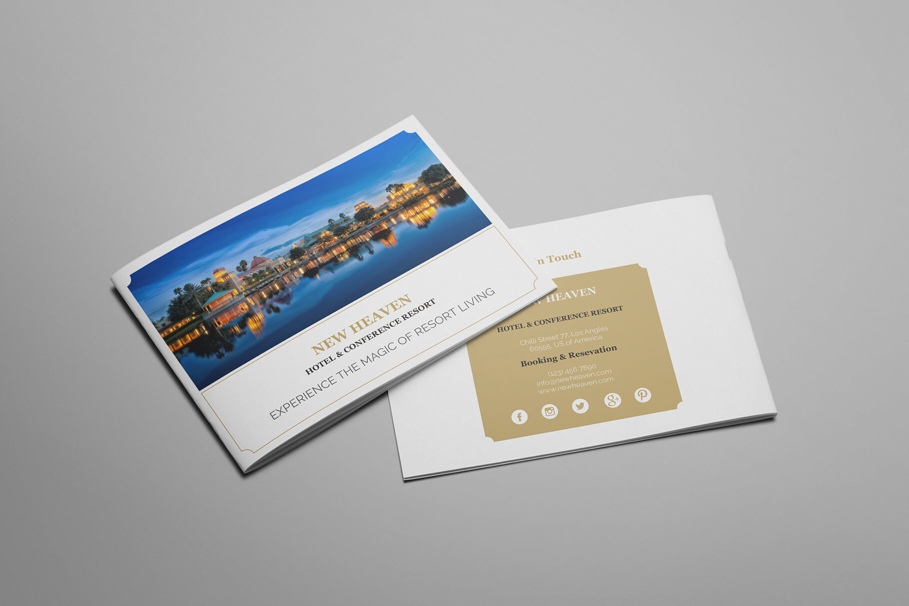 Nixie - A5 Hotel Brochure Template Within Hotel Brochure Design Templates