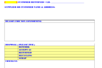 Non Conforming Material Form – with regard to Non Conformance Report Form Template