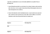 Non Disclosure Agreement Template ,confidentiality Agreement for Nda Template Word Document