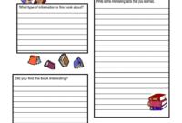 Non-Fiction Book Report Form.pdf   Book Report Templates regarding Nonfiction Book Report Template