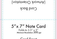 Note Card Size Template – Ironi.celikdemirsan within Place Card Size Template