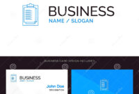 Notepad, Report Card, Result, Presentation Blue Business inside Result Card Template