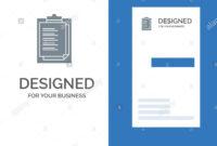 Notepad, Report Card, Result, Presentation Grey Logo Design inside Result Card Template