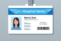 Nurse Id Card Medical Identity Badge Template for Personal Identification Card Template