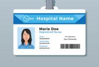 Nurse Id Card Medical Identity Badge Template with Hospital Id Card Template