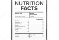 Nutrition Facts Vector. Blank, Template. Diet Calories List pertaining to Blank Food Label Template