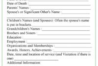 Obituary Template Regarding Fill In The Blank Obituary Template