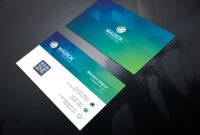 Ocean Professional Corporate Business Card Template with Professional Name Card Template