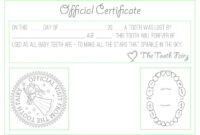 "Official ""tooth Fairy"" Certificate :) 