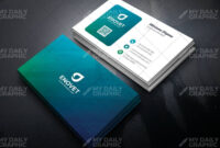 Ombre Shades Business Card Template | Business Cards For Qr Code Business Card Template