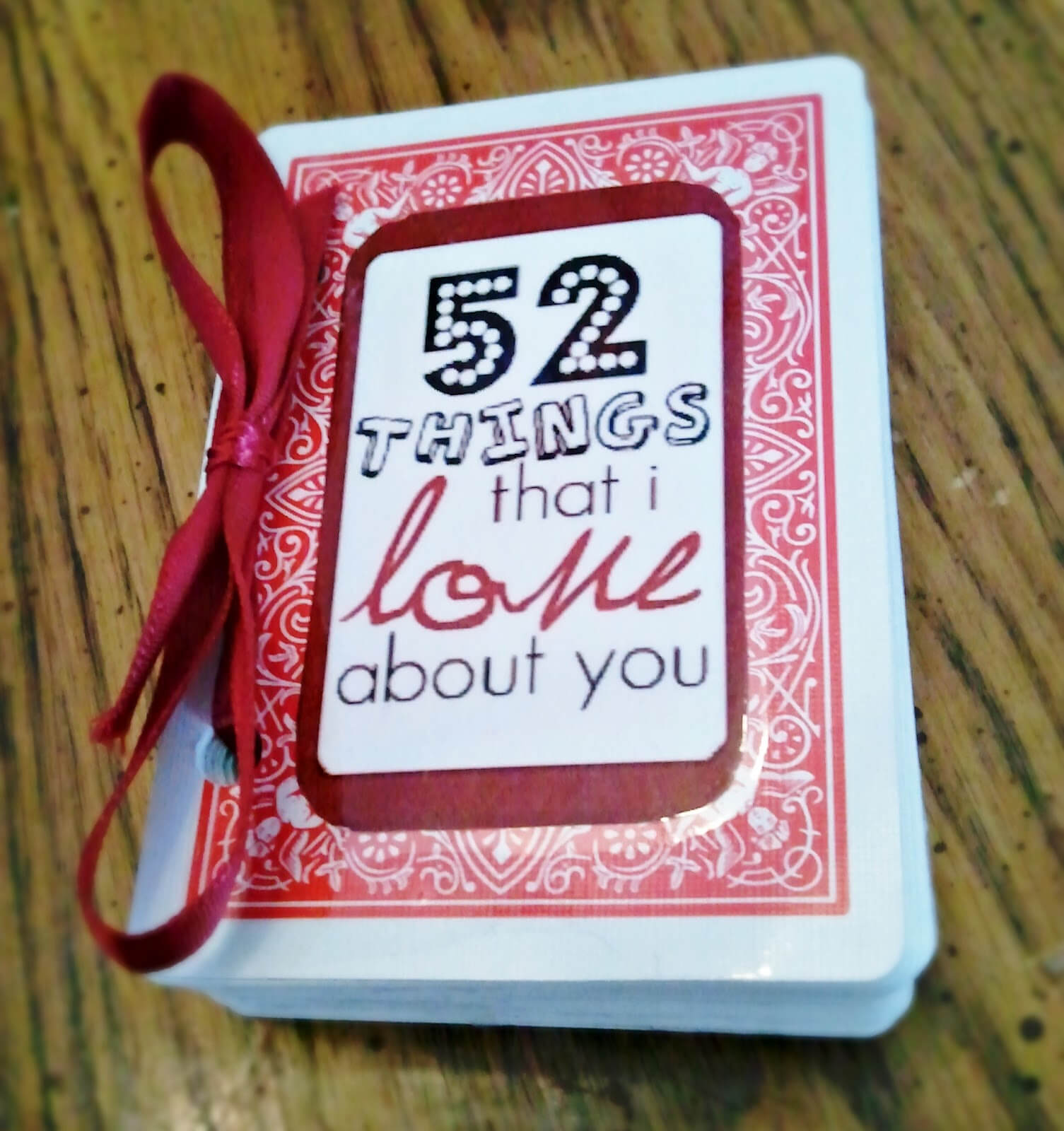 On A Cold Day: 52 Things I Love About You In 52 Things I Love About You Deck Of Cards Template