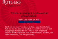 On Giving A Good Talk – Department Of Food Science throughout Rutgers Powerpoint Template