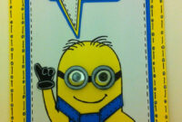 One In A Minion Card Tutorial With Free Template | Birthday pertaining to Minion Card Template