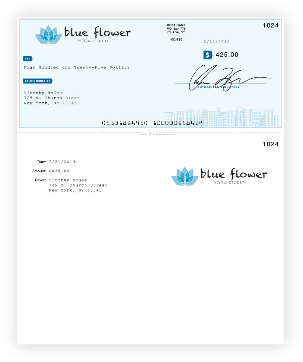 Online Check Printing | Checkeeper Inside Customizable Blank Check Template