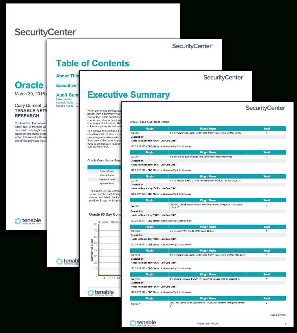 Oracle Audit Results - Sc Report Template | Tenable® For Security Audit Report Template