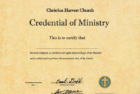 Ordained Ordination Ordain Ordination Online Ordainment Be throughout Certificate Of Ordination Template