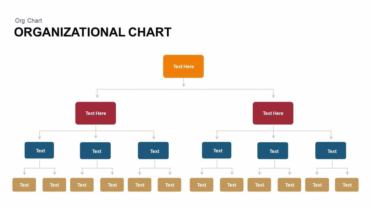 Organizational Chart Powerpoint Template & Keynote Slide With Regard To Microsoft Powerpoint Org Chart Template