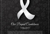 Our Deepest Condolences Vector Card Template | Condolences throughout Sorry For Your Loss Card Template