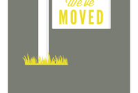 Our New Address – Free Printable Moving Announcement pertaining to Moving House Cards Template Free