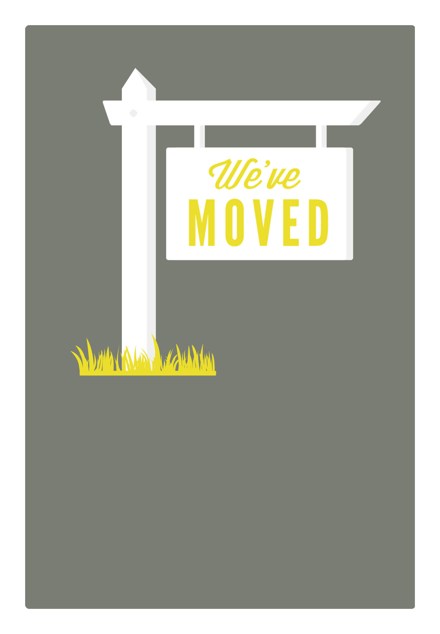 Our New Address - Free Printable Moving Announcement With Regard To Moving Home Cards Template