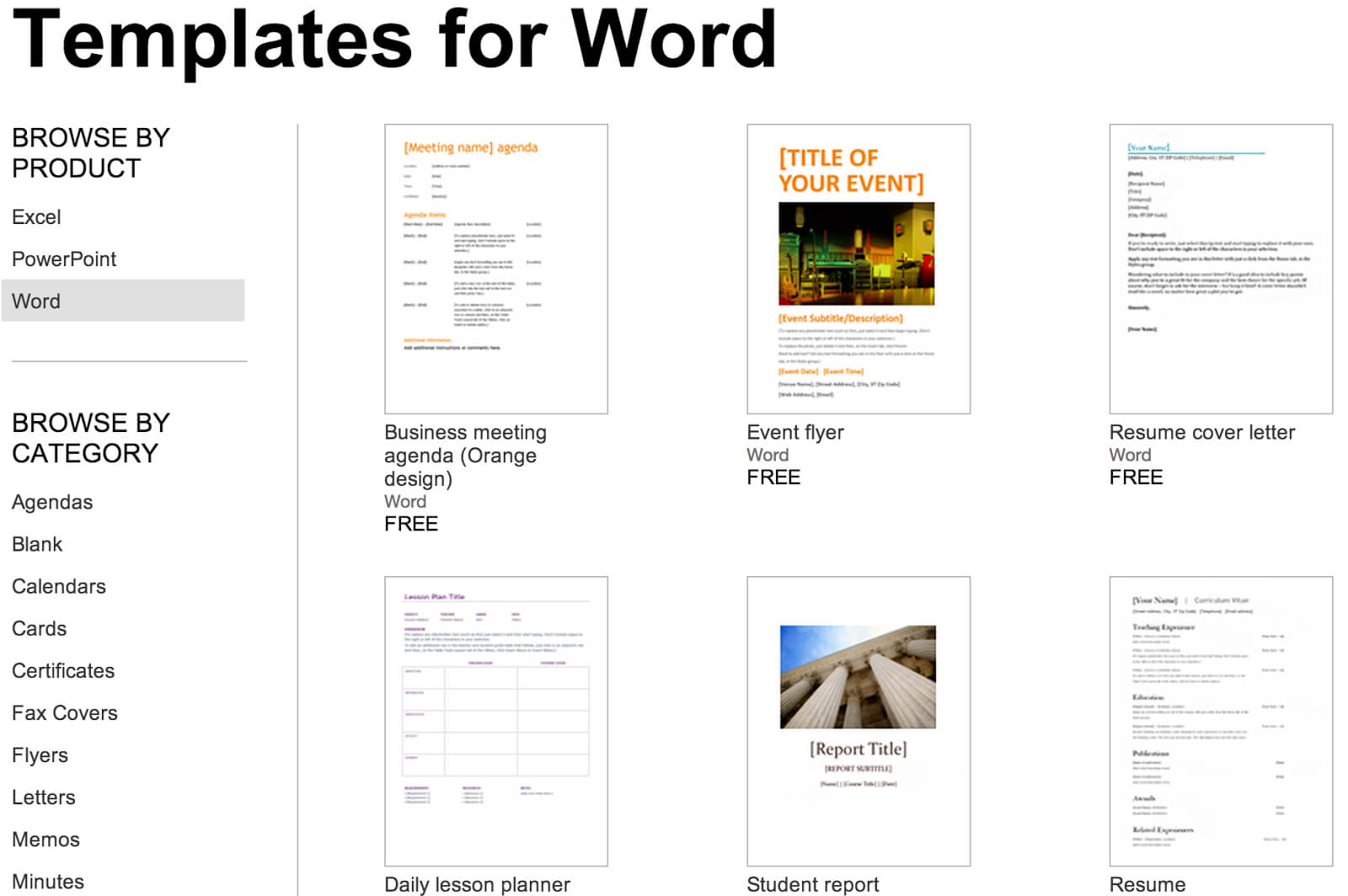 Over 250 Free Microsoft Office Templates & Documents With Google Word Document Templates