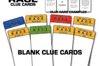 """Paper Perfection: Free """"amazing Race"""" Birthday Party in Clue Card Template"""