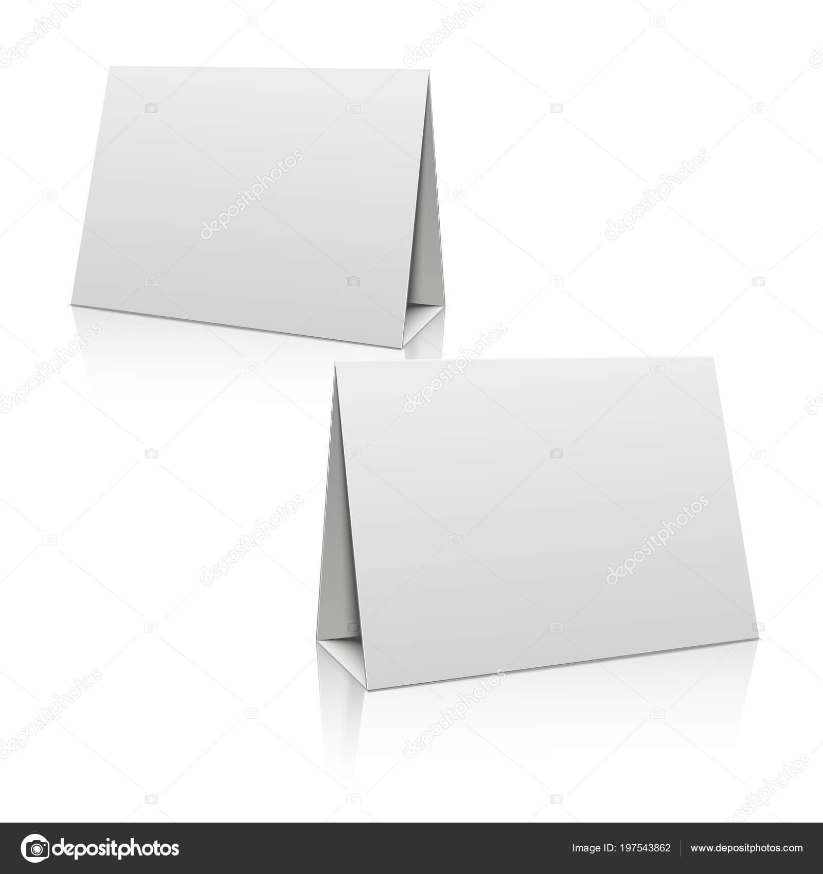 Paper Stand Template | Blank White Paper Stand Table Holder Intended For Card Stand Template